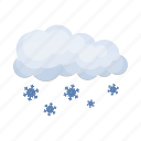 cloud, forecast, rain, snow, weather, weather forecaster icon