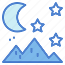bright, moon, sky, star icon