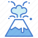 dangerous, eruption, volcano icon