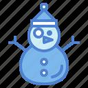 snow, snowman, weather icon