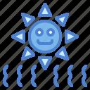 rays, sunny, ultraviolet, uv icon