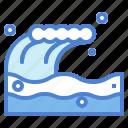 ocean, sea, wave icon