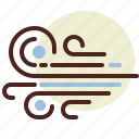 blow, drection, wind icon