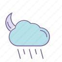 cloud, color, forecast, rain, weather icon