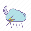 cloud, color, forecast, line, thunder, thunderstorm, weather