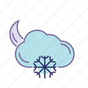 cloud, cold, forecast, night, snow, weather, winter icon