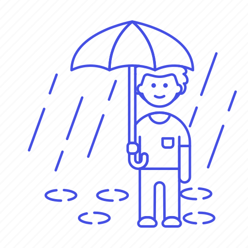 1, drop, humid, male, meteorology, puddle, rain, raining, rainy, region, stormy, umbrella, water, weather icon