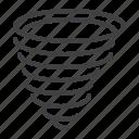 spiral, tornado, typhoon, weather icon