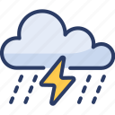 cloud, heavy, lightning, rain, storm, thunderstorm, weather