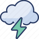 awful, cloudy, dark, lightening, raining, rainstorm, thunderstorm