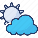cloudy, eclipse, forecast, meteorology, partly, shiny, weather