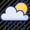 bath, cloudy, raining, shower, sun, sunny, tanning