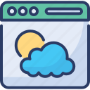 browser, page, web, website, internet, weather