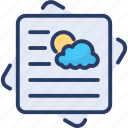 broadcasting, forecasting, meteorologist, news, newspaper, report, weather