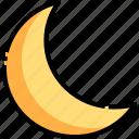 astronomy, half, moon, nature, night icon