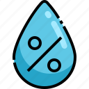 humidity, rain, water, weather icon