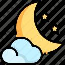 cloud, moon, night, sky, star