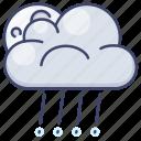 rain, moon, rainy, clouds icon
