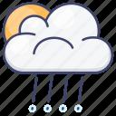 rain, rainy, sun, clouds icon