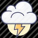 weather, thunder, lightning, forecast icon