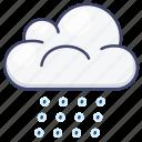 wet, cloud, weather, rainy icon