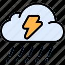 thunderbolt, thunderstorm, lightning bolt, rain, thunder, cloud, storm