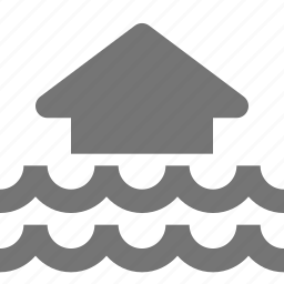 flood, home, house icon