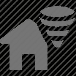 home, house, hurricane, tornado icon