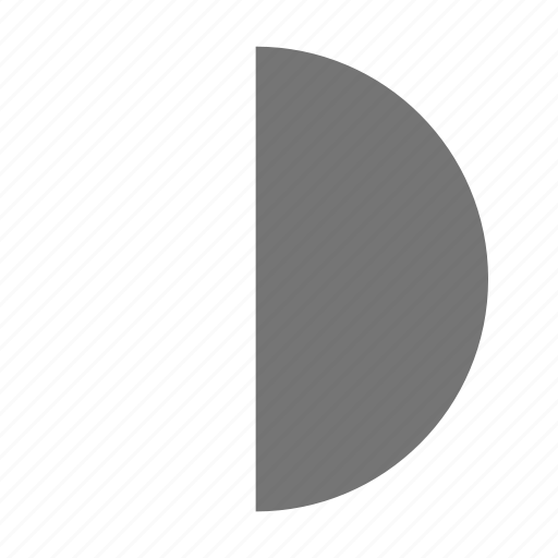 first moon, moon, quarter icon