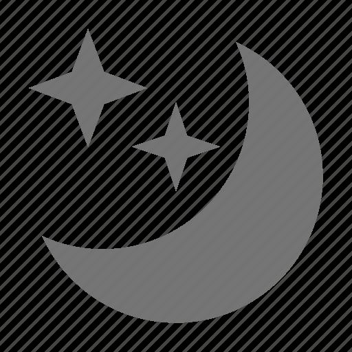 clear sky, night, sky icon