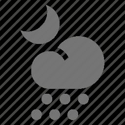 hail, moon, night icon