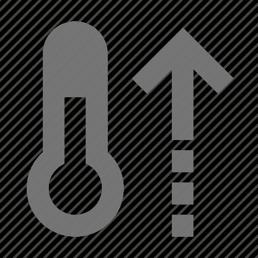 increase, temperature, thermometer icon