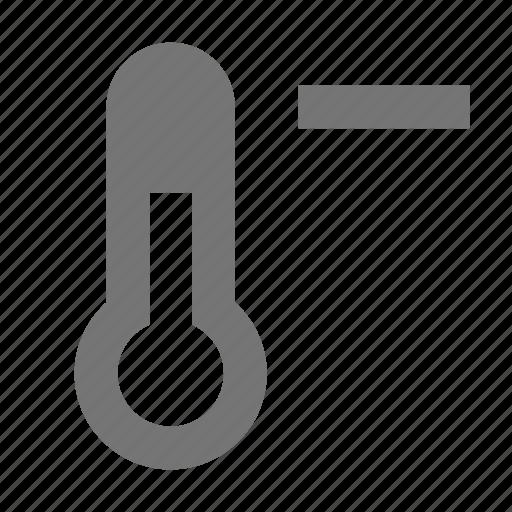 negative, thermometer icon