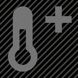 positive, temperature, thermometer icon