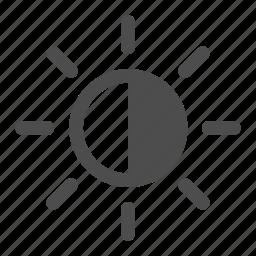 half, half shadow, shadow, sun, sunny, weather icon