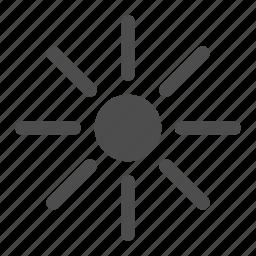 hot, little, little sun, sun, sunny, warm, weather icon
