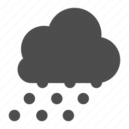 cloud, cloudy, snow, snowing, weather icon