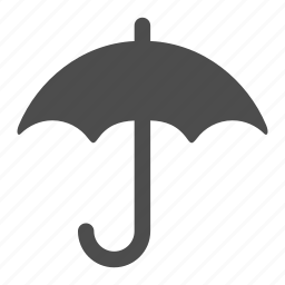 puddles, rain, raining, storm, umbrella, weather, wet icon