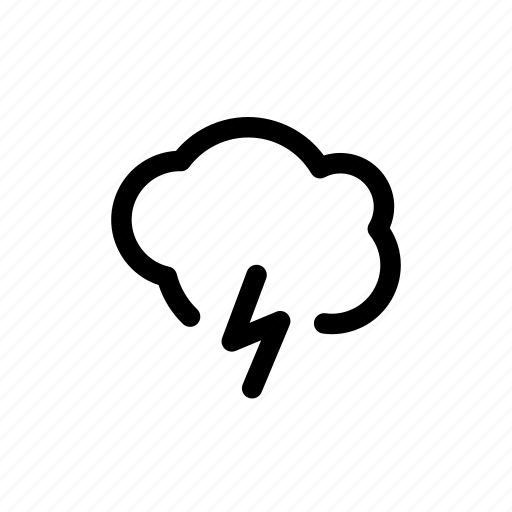 bolt, cloud, lightning icon