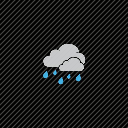 cloud, forecast, rain, rainy, storm, stormy, weather icon