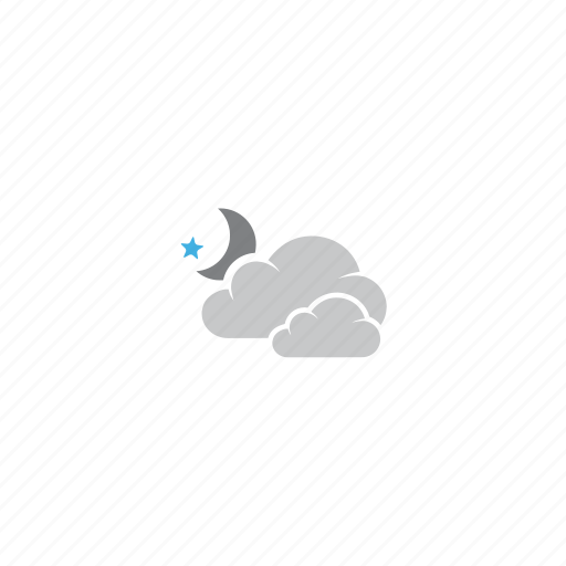 cloud, clouds, cloudy, forecast, mostly cloud, night, weather icon