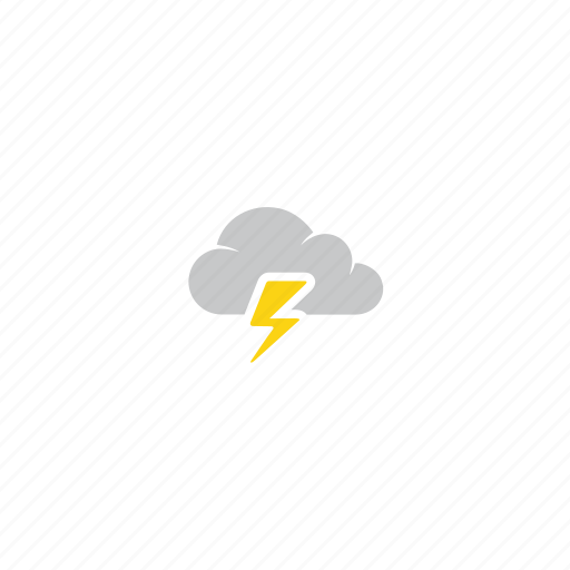 cloud, forecast, lightning, storm, summer, thunder, weather icon