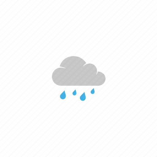 cloud, cloudy, forecast, rain, rainy, water drops, weather icon
