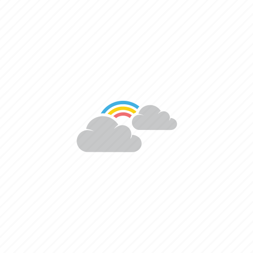 band of colors, clouds, color, fairy, rainbow, spectrum, weather icon