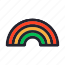 climate, forecast, rainbow, season, weather icon