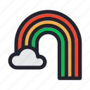 climate, cloud, forecast, rainbow, season, weather icon