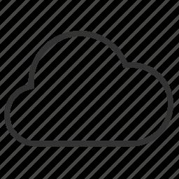 chance of rain, cloud, rain, weather icon