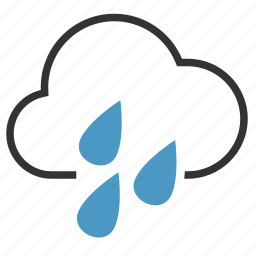 cloud, drops, heavy, rain icon