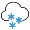 cloud, heavy, snow, snowflakes icon
