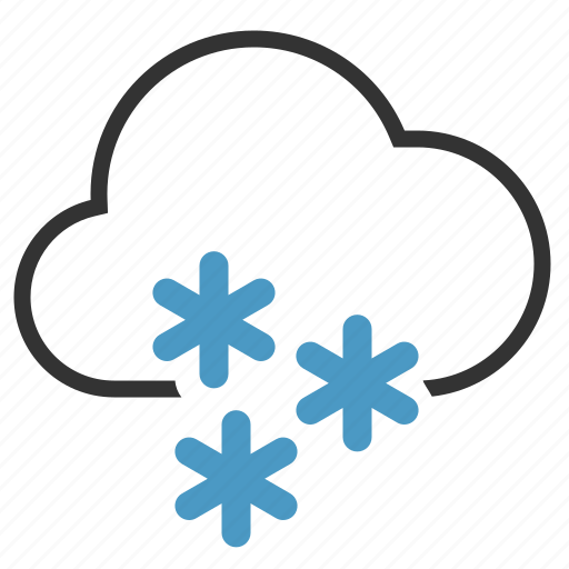 Cloud, heavy, snow, snowflakes icon | Icon search engine